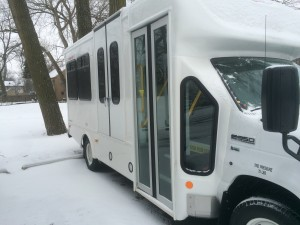 One of two light-duty vehicles received in February.