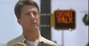 Dustin Hoffman portrayed an adult with autism in the 1988 film Rain Man.