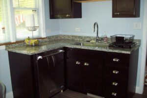 The kitchen was completely renovated.