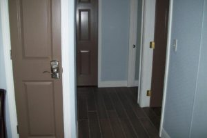 Hallways and doorways were widened.