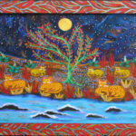 sarah-rakes-3-family-night-at-the-river-21-7x27-5-acrylic-on-wood-975