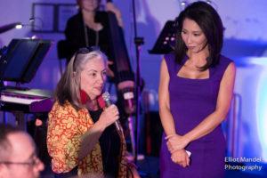 Judy Hsu with event organizer Kathy Miller.