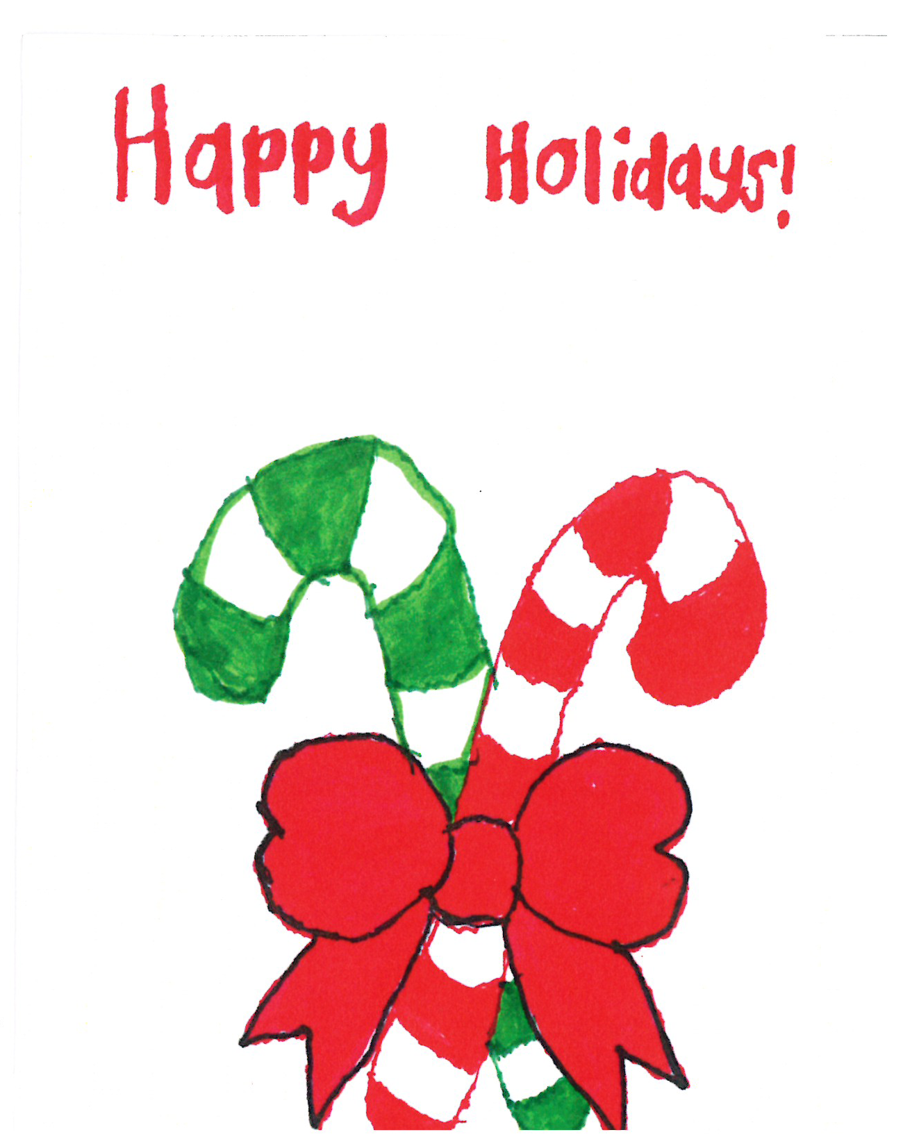 Rimland Candy Canes Christmas Card