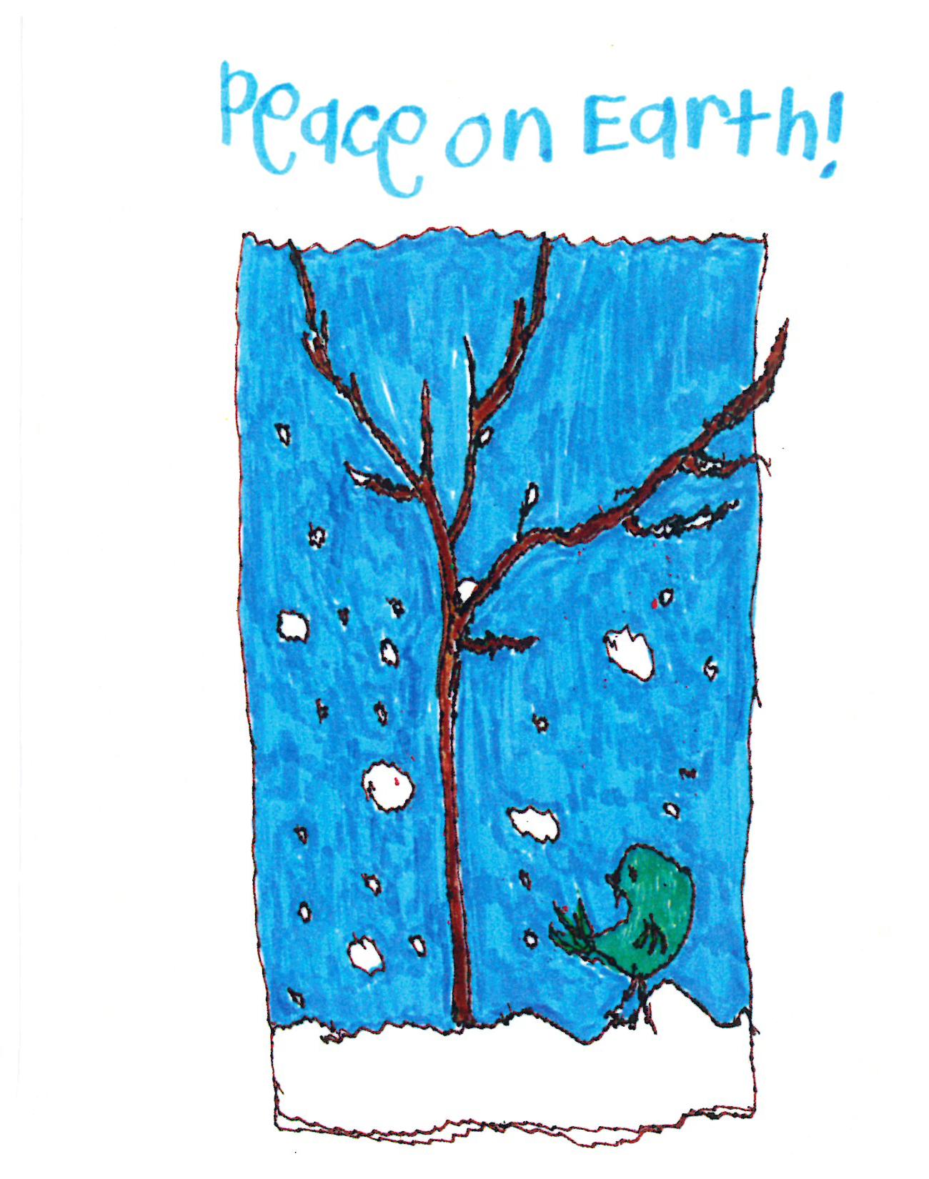 Rimland Peace on Earth Christmas Card