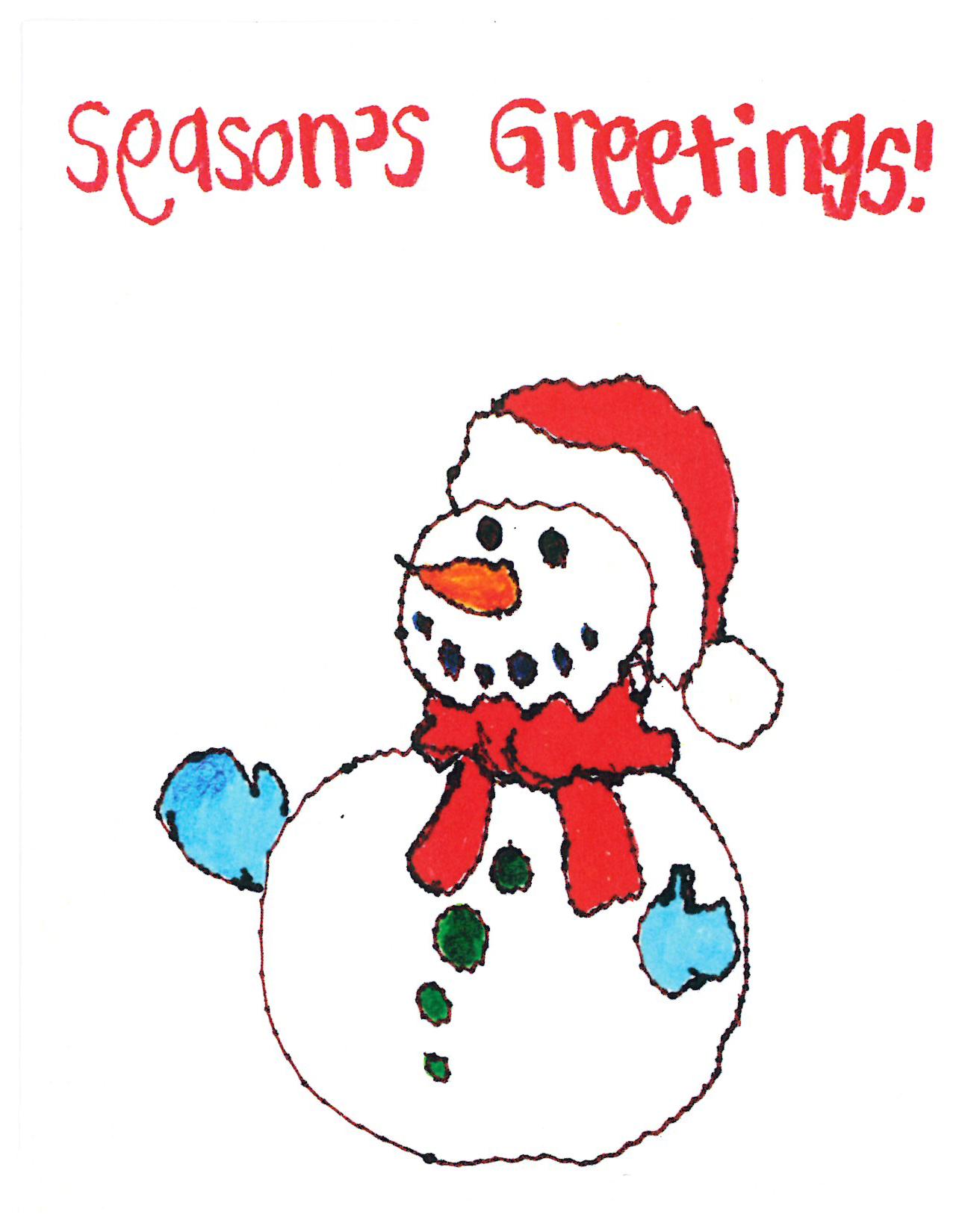 Rimland Snowman Christmas Card