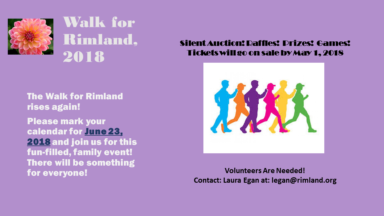 Walk for Rimland save the date flier