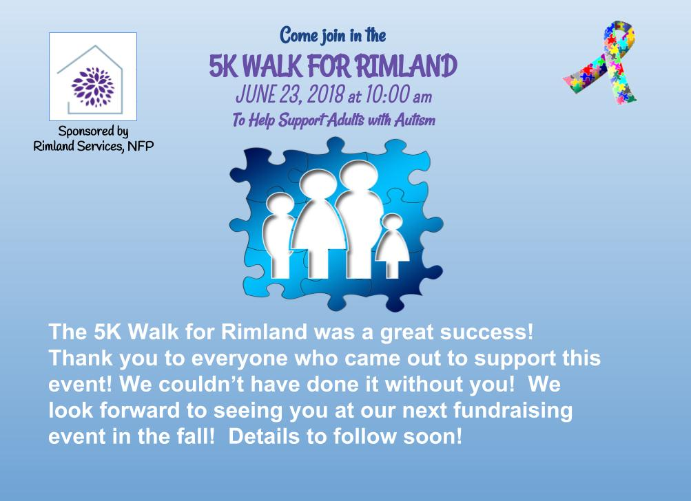Greater giving Rimland 5K Walk graphic
